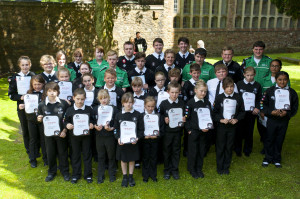 Badgers at Investiture
